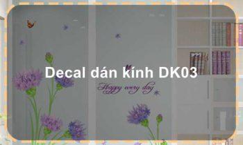 Decal dán kính DK03