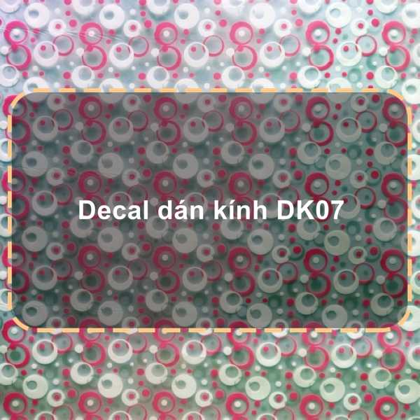 Decal dán kính DK07