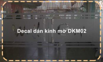 Decal dán kính mờ DKM02