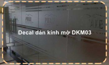 Decal dán kính mờ DKM03