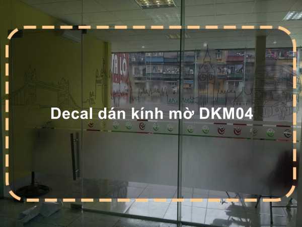 Decal dán kính mờ DKM04