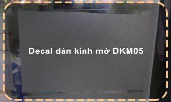 Decal dán kính mờ DKM05