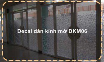 Decal dán kính mờ DKM06