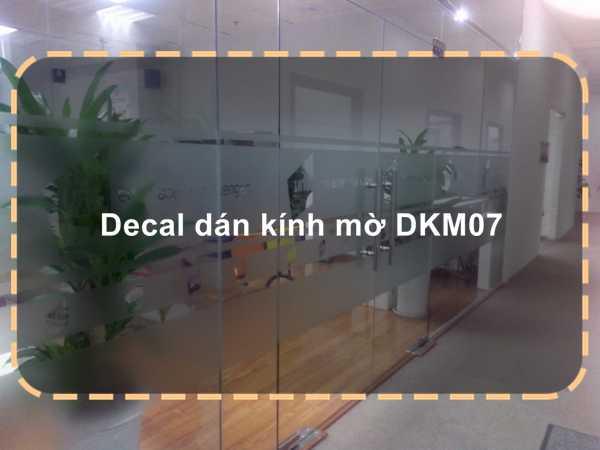 Decal dán kính mờ DKM07