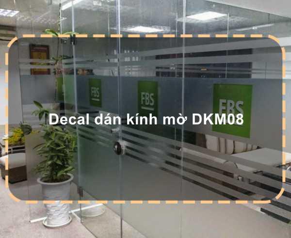 Decal dán kính mờ DKM08