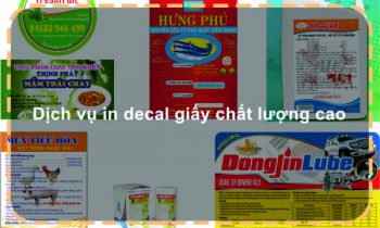 Dịch vụ in decal giấy chất lượng cao