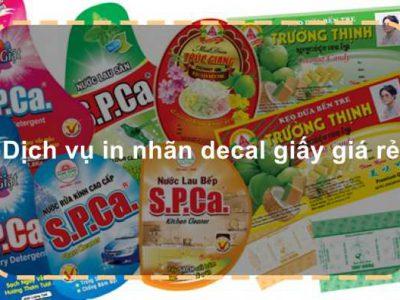 Dịch vụ in nhãn decal giấy giá rẻ