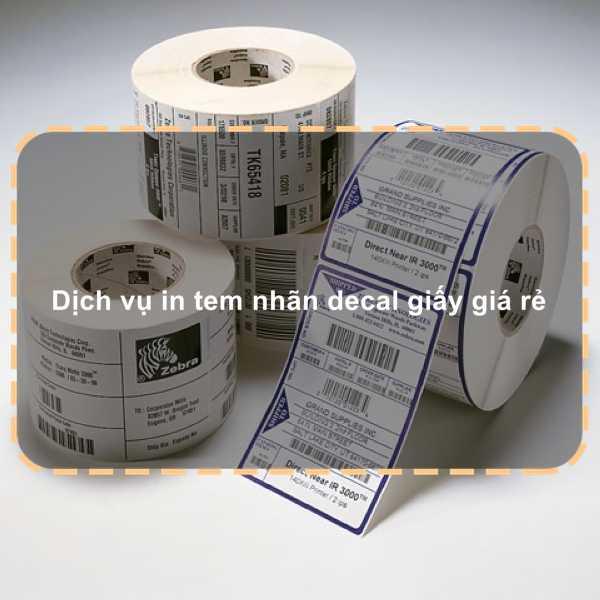 Dịch vụ in tem nhãn decal giấy giá rẻ