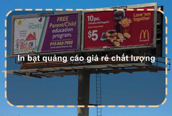 In bạt quảng cáo giá rẻ chất lượng
